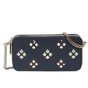 Kate Spade Double Zip Margaux Purse Studded Spades